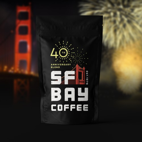 Logo for SF Bay 40th Anniversary Blend