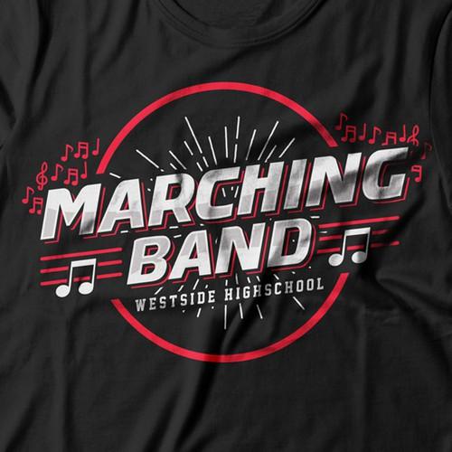 marching band vintage tshirt