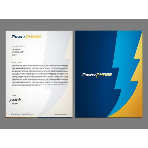 Create sweet stationary for Power Plant Turbocharger Company
