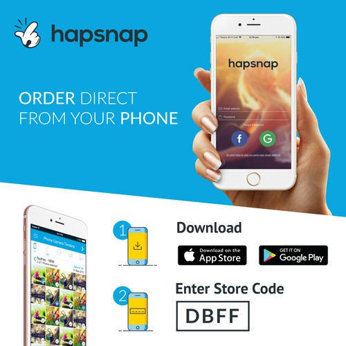 In Store Poster, Hapsnap App