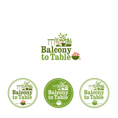 Interpretation of Balcony to Table for a blog and line of gardening products.