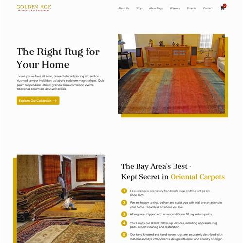 Rug Store - Landing Page Design