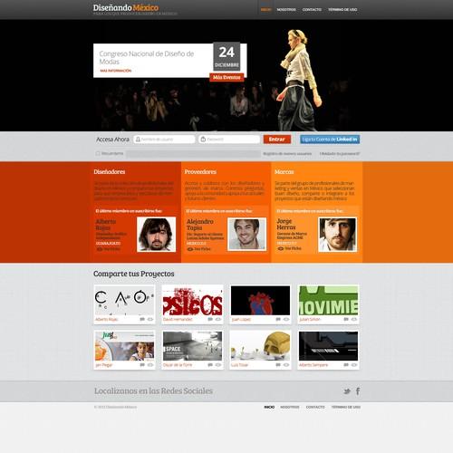 website design for Diseñando México