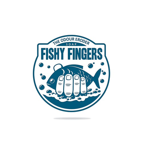 Create a logo for a soap that removes fish smell from your hands after fishing