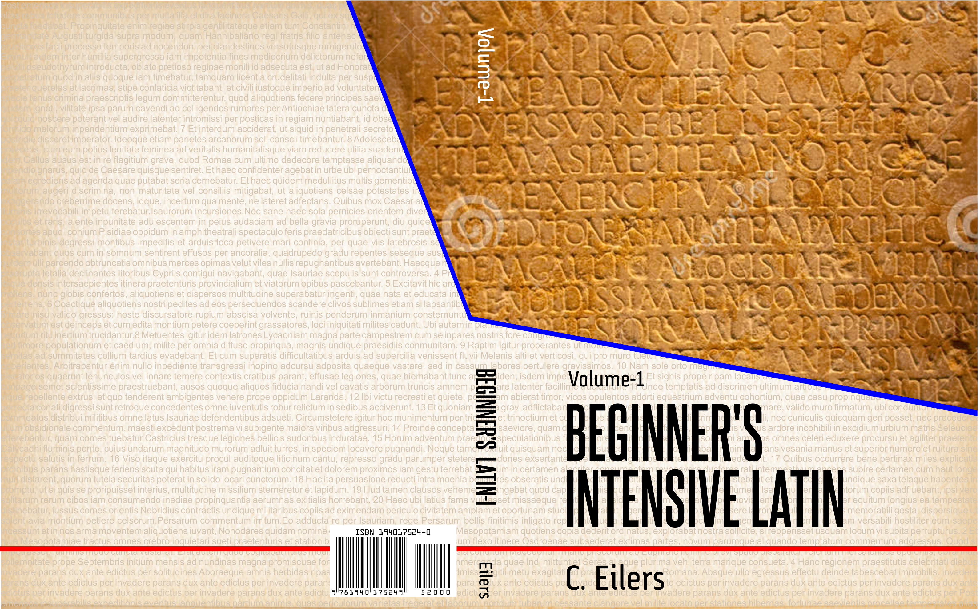"Book cover for ""Beginner's Intensive Latin"" (volume 1)"
