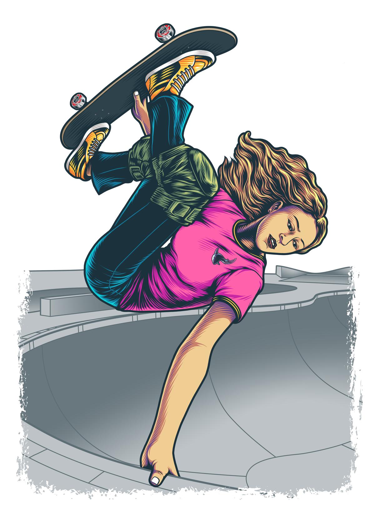 Skate logo for t-shirt