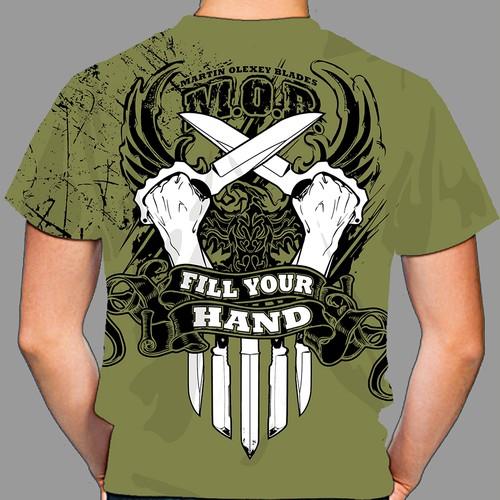 Custom Knife Maker T-Shirt Design