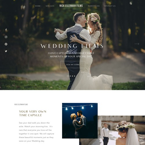 Modern High-End Wedding Videographer Wordpress Theme