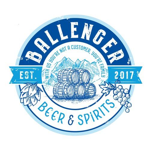 Logo für a liquor shop