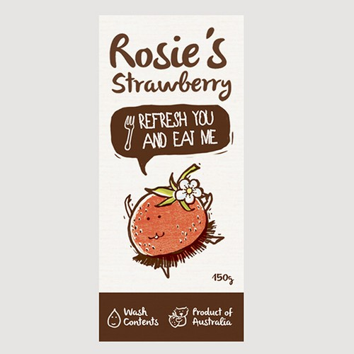 Create a fun, quirky product label for R.S.