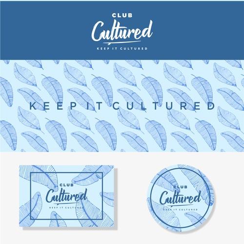 Lettering design logo concept for Club Cultured Bali