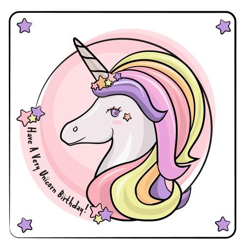 Unicorn Illustration Party Box Design