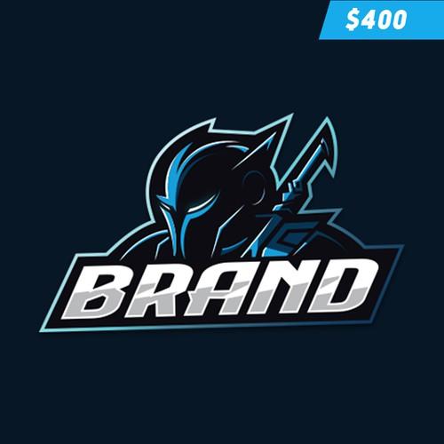 Knight Character Gaming Logo