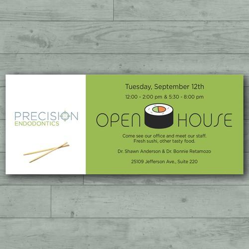 Open House & Sushi Invitation
