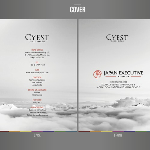 Designing New Service Booklet: Japan Business Service and Executive Search.