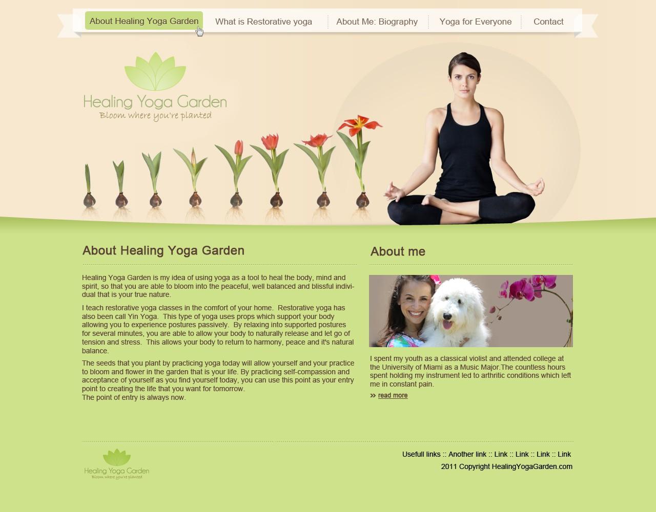 website design for Healing Yoga Garden