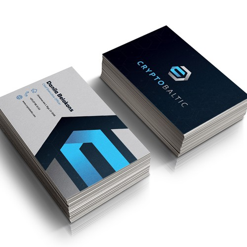 Cryptocurrency & Blockchain Business Card Company