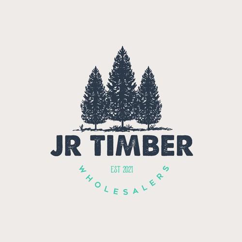 JR Timber Wholesalers Logo Design