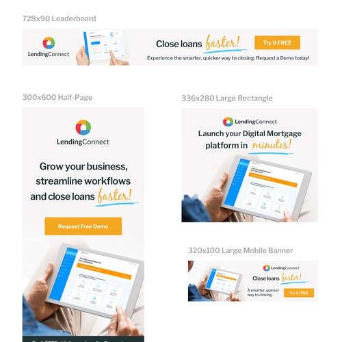 Banners for Real State Saas Platform