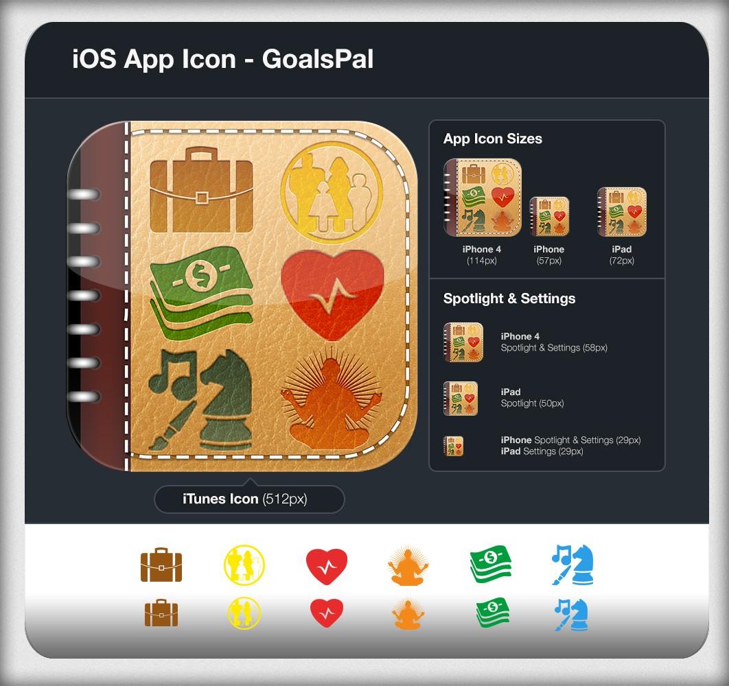 icon or button design for goalspal