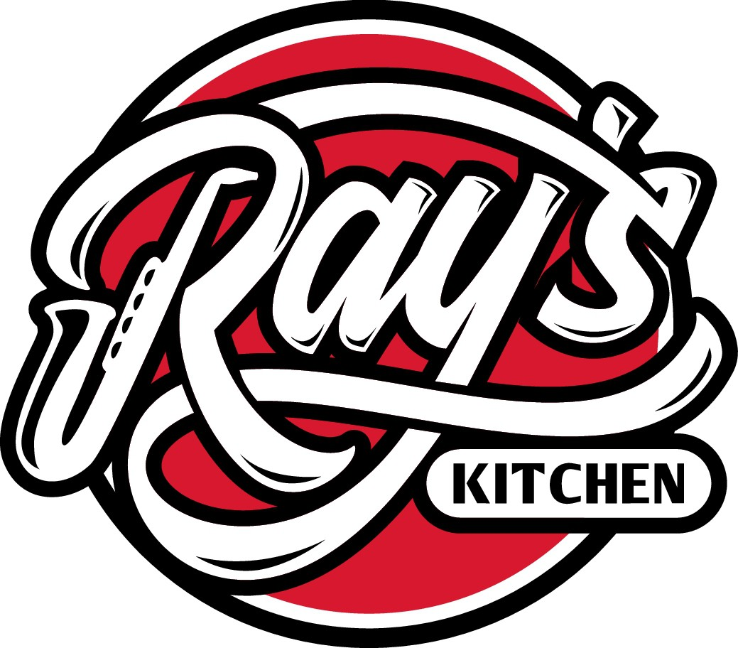 Listen to jazz music and create a logo for ( Ray's kitchen )
