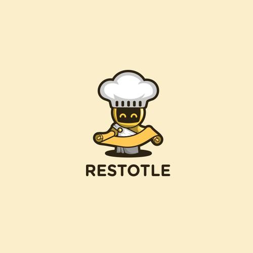 Aristotle Robot Logo Design