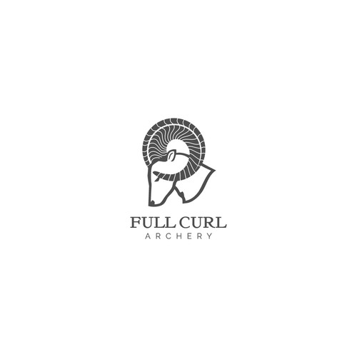 Bold logo concept for Full Curl Archery