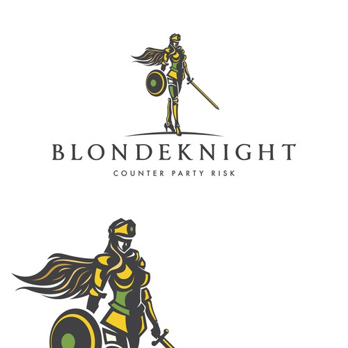 "WOMAN OWNED COMPANY ""BLONDEKNIGHT"" NEED A LOGO DESIGN"