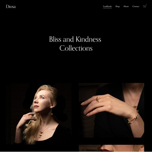 Diosa | Website for a Jewelry Shop