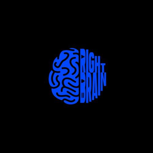 unique bold logo for Right Brain