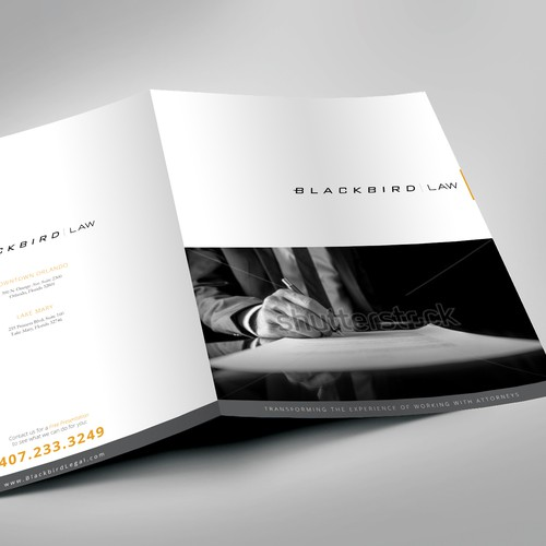 Creat a modern brochure for a modern law firm!