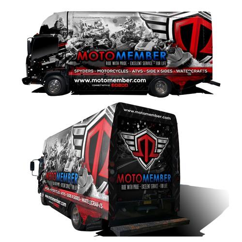 Motosports Truck Wrap