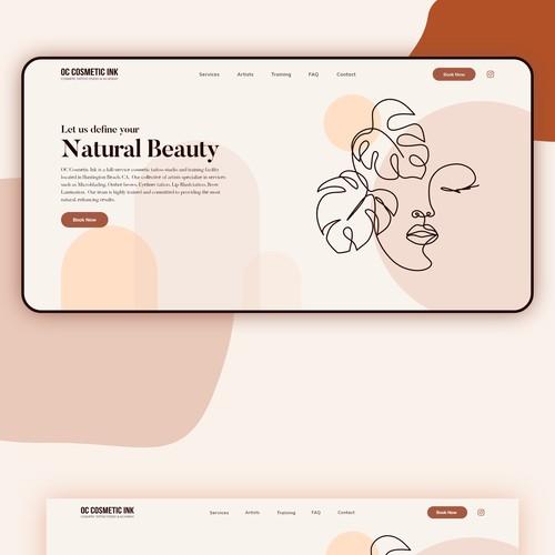Cosmetic Tattoo Studio Website design