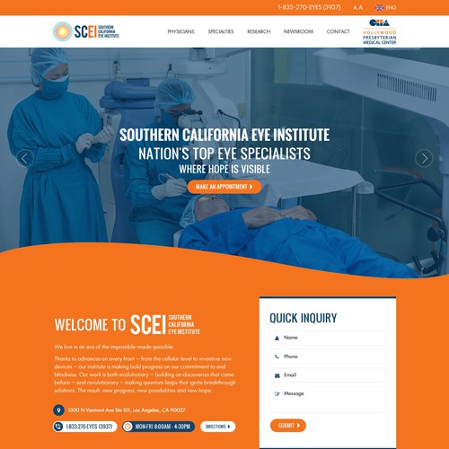 Bold and Modern Medical Clinic website