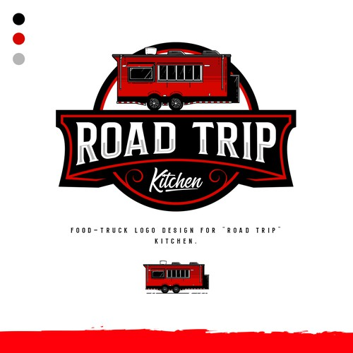 "Logo design for a Food-Truck ""Road Trip Kitchen"""
