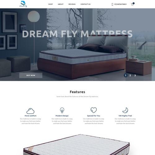 Web design for a mattress company