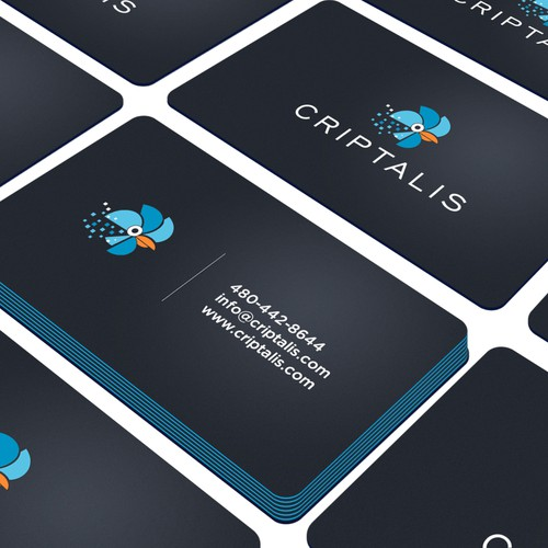 Flat, modern logo and business card for Criptalis