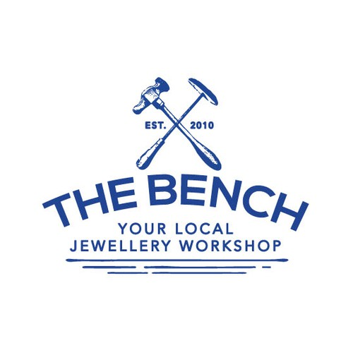 Logo for The Bench, a traditional jewellery workshop
