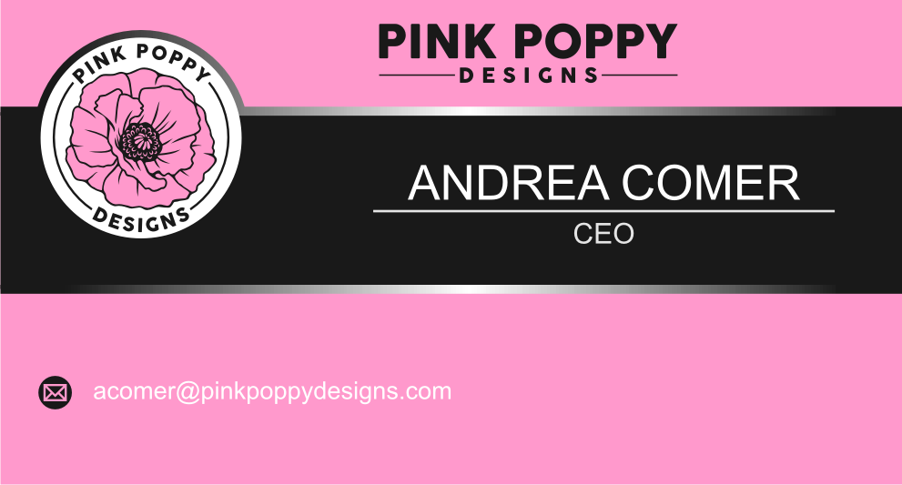 Pink Poppy LLC logo design