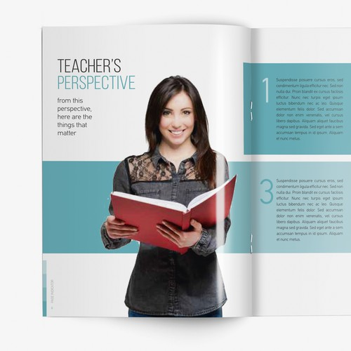 Book concept and inner spreads for a Learning Foundation.