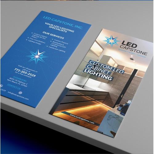 Led Capstone trifold brochure