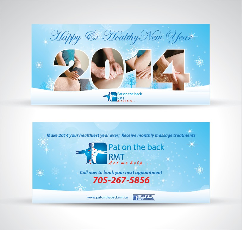 Post card design for a Massage therapy business