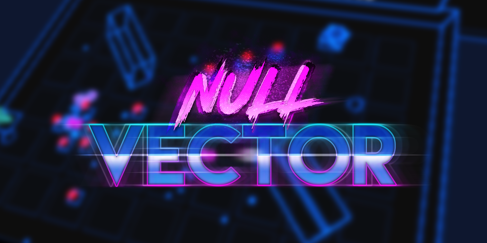 "Logo for ""Null Vector"", an 80's action arcade game, coming to Steam"