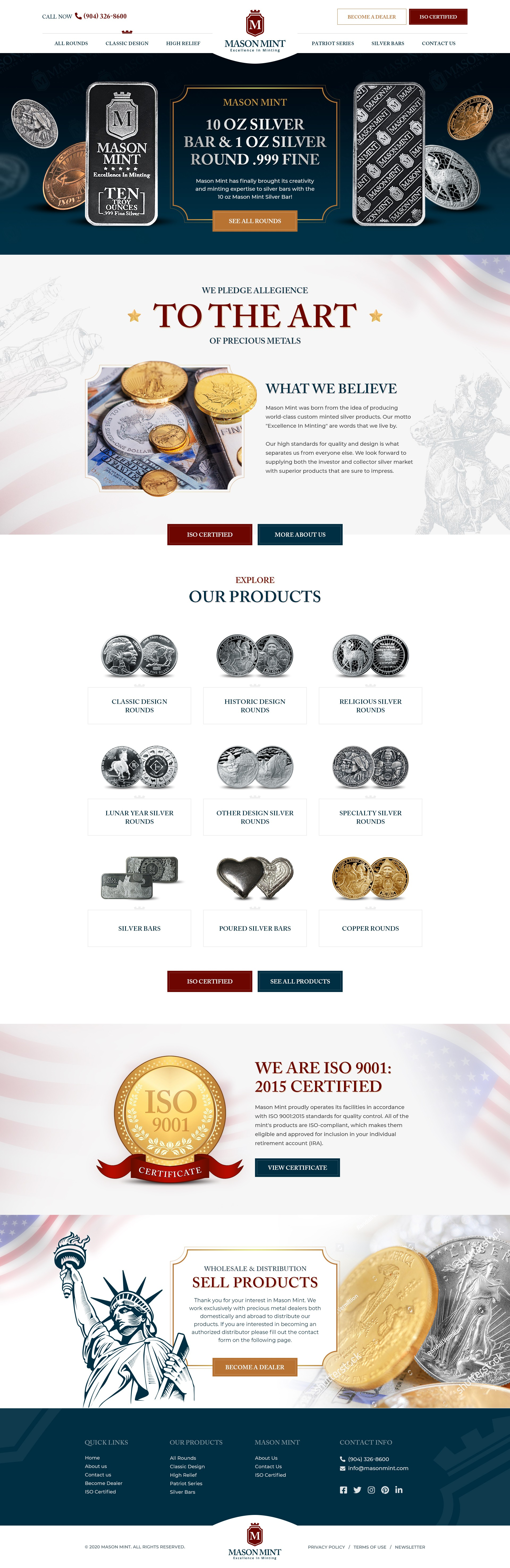 Design A Luxury Homepage For A Coin Minting Company