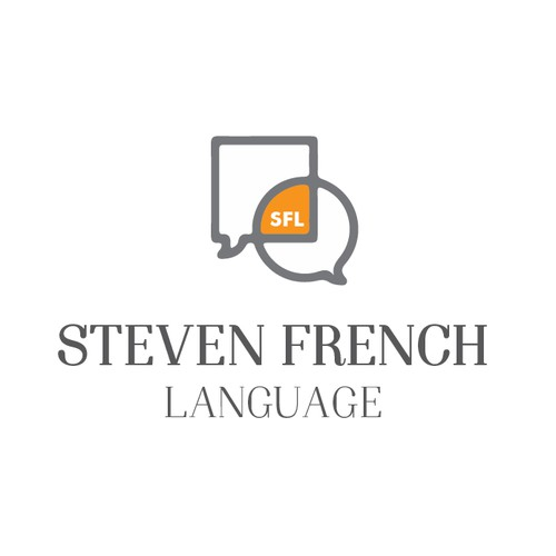 Create a modern, clean, stylish logo for my Language Tuition Company (French, Spanish, English)