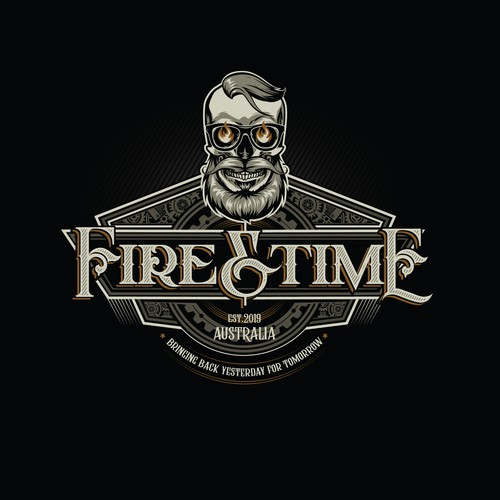 Epic steampunk, retro, hipster logo