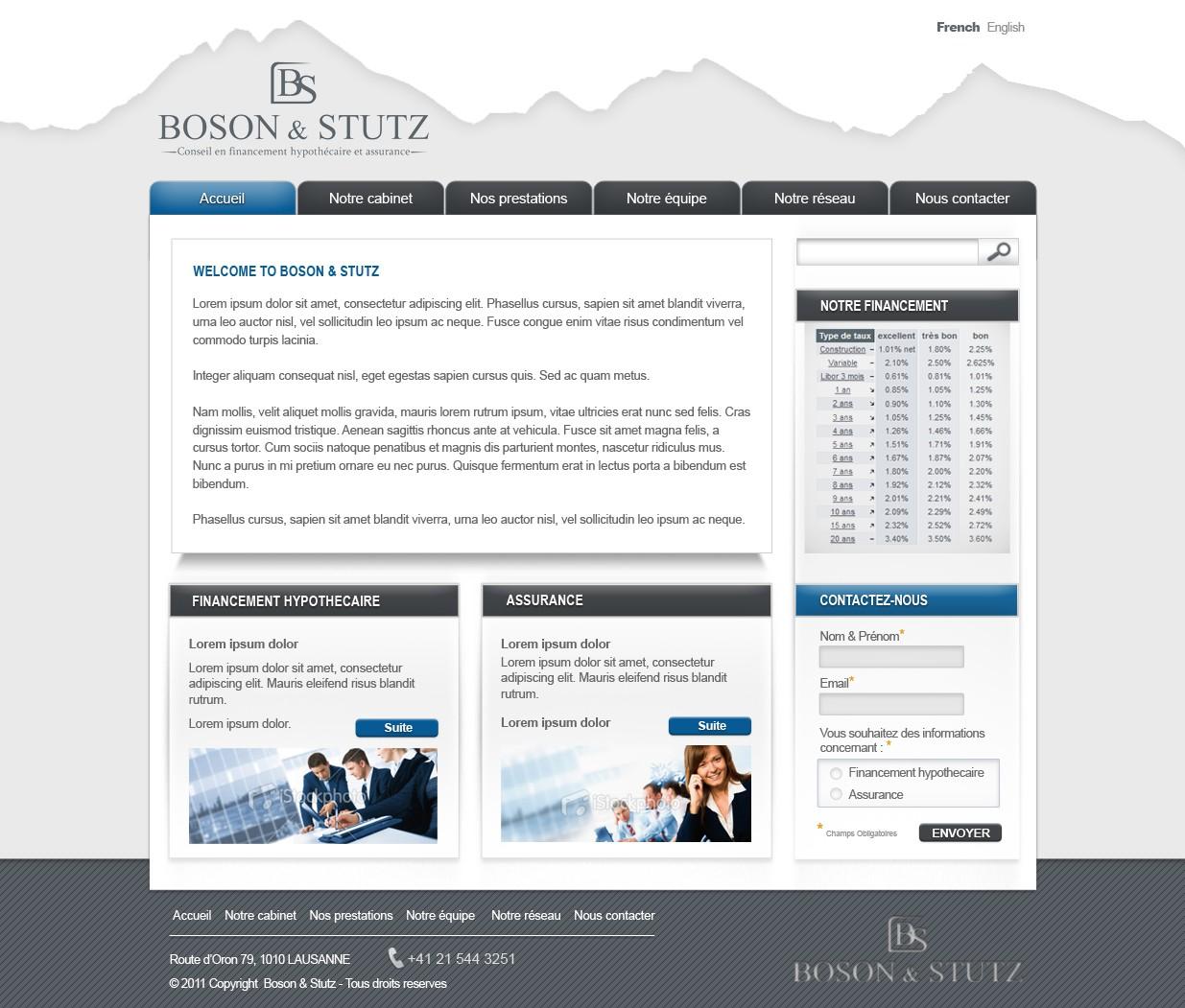 Boson & Stutz needs a new website design