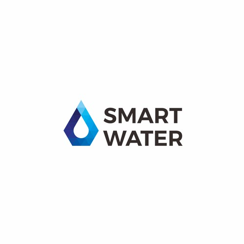 Pseudo-gradient logo for water conference: Smart Water