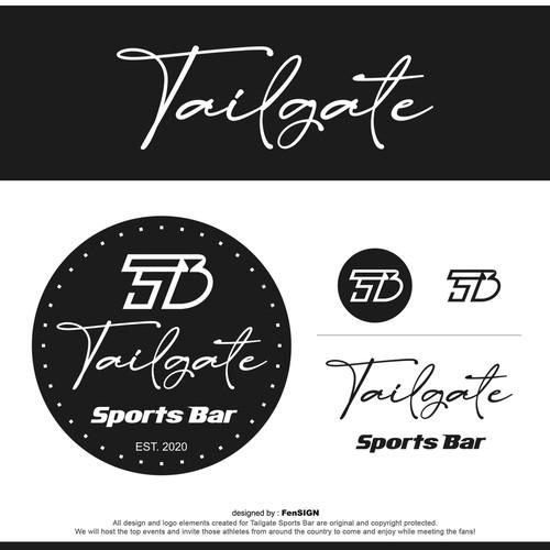 Modern logo for Tailgate Sports Bar