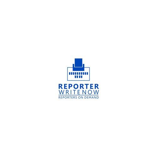 Simple Classic Logo for ReporterWriteNow